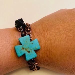 Jewelry - Small Blue Cross Bracelet
